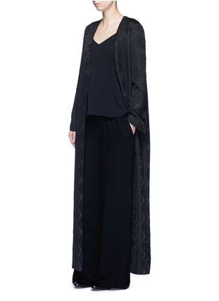 The Row - 'Muan' floral cloqué wool-silk maxi coat