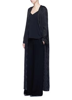 The Row'Muan' floral cloqué wool-silk maxi coat