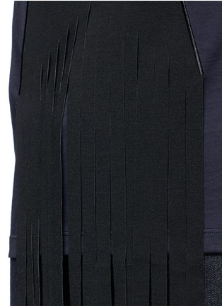 Detail View - Click To Enlarge - Stella McCartney - Fringe star patch jersey T-shirt