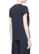 Fringe star patch jersey T-shirt