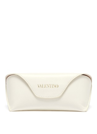 Valentino-Oversize round acetate sunglasses