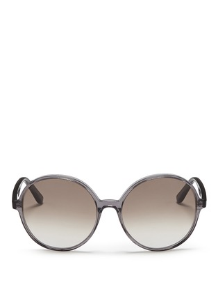 Main View - Click To Enlarge - Valentino - Oversize round acetate sunglasses