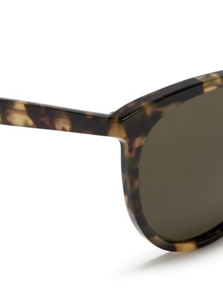 Detail View - Click To Enlarge - Valentino - Round frame tortoiseshell acetate sunglasses