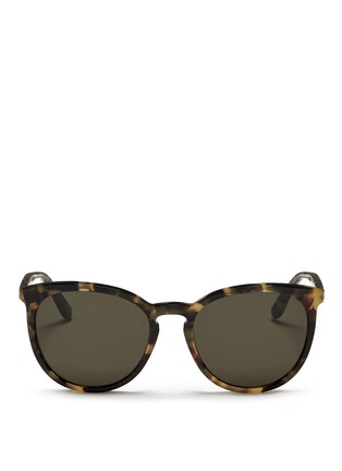 Main View - Click To Enlarge - Valentino - Round frame tortoiseshell acetate sunglasses