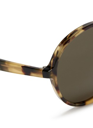 Detail View - Click To Enlarge - Valentino - Oversize round tortoiseshell acetate sunglasses