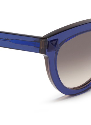 Detail View - Click To Enlarge - Valentino - 'Rockstud' acetate sunglasses