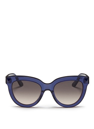 Main View - Click To Enlarge - Valentino - 'Rockstud' acetate sunglasses