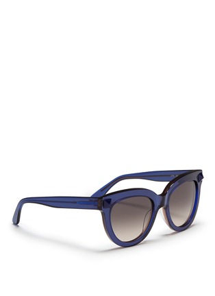 Figure View - Click To Enlarge - Valentino - 'Rockstud' acetate sunglasses