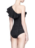 'Arden' flounce one-shoulder bonded swimsuit