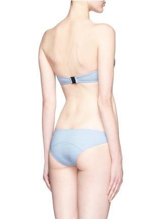 Back View - Click To Enlarge - Lisa Marie Fernandez - 'Poppy' denim bandeau set