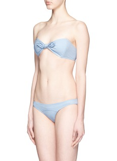 LISA MARIE FERNANDEZ 'Poppy' denim bandeau set