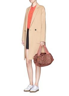 SEE BY CHLOÉ'Joy Rider' small leopard print puffer nylon shoulder bag