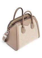 'Antigona' medium virgin wool panel leather bag