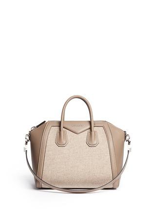 Main View - Click To Enlarge - Givenchy - 'Antigona' medium virgin wool panel leather bag