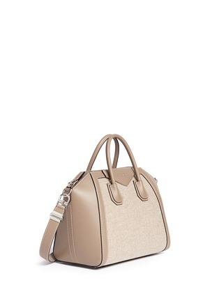 Figure View - Click To Enlarge - Givenchy - 'Antigona' medium virgin wool panel leather bag