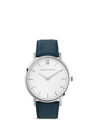 Main View - Click To Enlarge - Larsson & Jennings - 'Lãder' leather strap watch