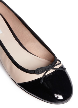 Detail View - Click To Enlarge - Cole Haan - 'Sarina' patent toe cap ballet flats