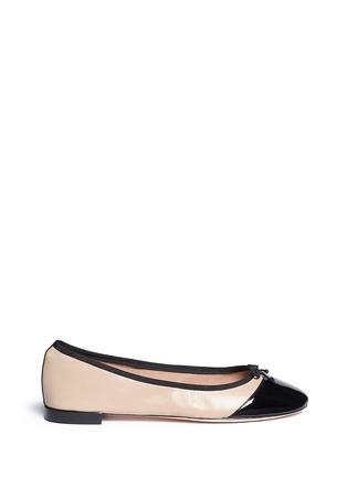 Main View - Click To Enlarge - Cole Haan - 'Sarina' patent toe cap ballet flats