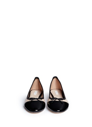 Figure View - Click To Enlarge - Cole Haan - 'Sarina' patent toe cap ballet flats