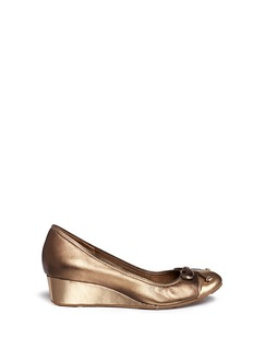 COLE HAAN 'Air Tali' metallic leather wedge pumps