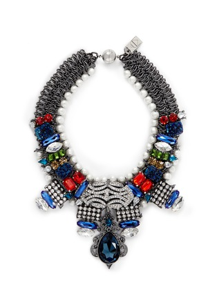Main View - Click To Enlarge - AMANDA MOUNSER - 'Garland' mineral gem collar necklace