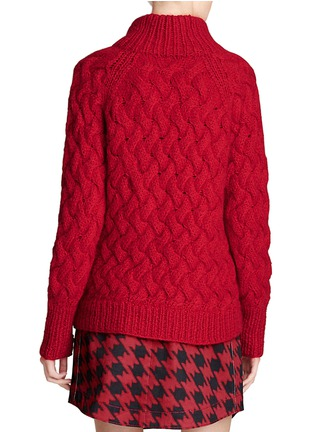 Back View - Click To Enlarge - Coach - x BLITZ funnel neck mohair-cashmere sweater