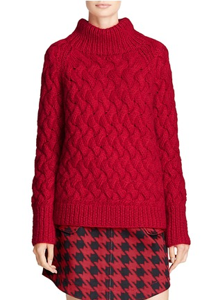 Front View - Click To Enlarge - Coach - x BLITZ funnel neck mohair-cashmere sweater