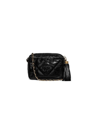 Main View - Click To Enlarge - Vintage Chanel - Small lizard leather crossbody camera bag