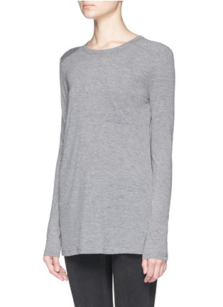 Front View - Click To Enlarge - T By Alexander Wang - Pocket T-shirt