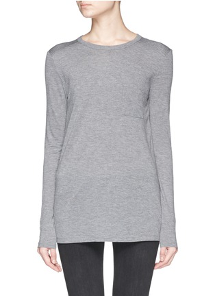 Main View - Click To Enlarge - T By Alexander Wang - Pocket T-shirt