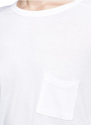 Detail View - Click To Enlarge - T By Alexander Wang - Long sleeve pocket T-shirt