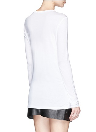 Back View - Click To Enlarge - T By Alexander Wang - Long sleeve pocket T-shirt