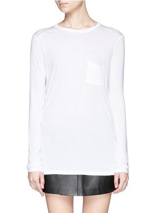 Main View - Click To Enlarge - T By Alexander Wang - Long sleeve pocket T-shirt