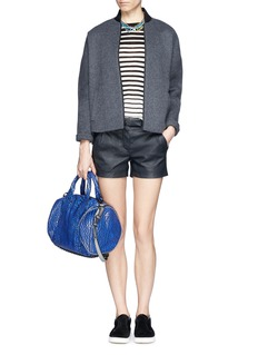 J. CREW Collection leather short