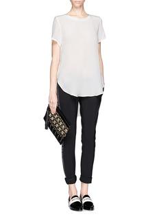 3.1 PHILLIP LIMOverlapped side seams silk T-shirt