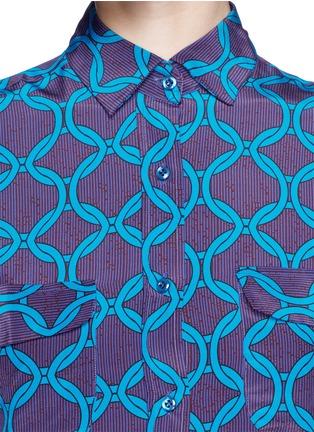Detail View - Click To Enlarge - STELLA JEAN - 'Delfina' chain print silk shirt