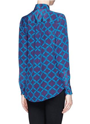 Back View - Click To Enlarge - STELLA JEAN - 'Delfina' chain print silk shirt