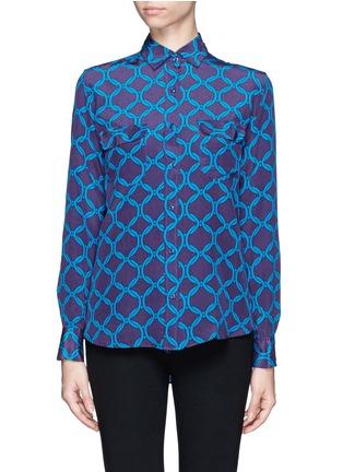 Main View - Click To Enlarge - STELLA JEAN - 'Delfina' chain print silk shirt