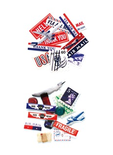MARK'S TOKYO EDGESticker zip pouch