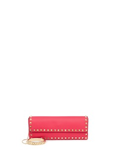 VALENTINO 'Rockstud' leather clutch and bangle
