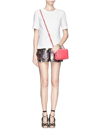 Figure View - Click To Enlarge - Valentino - 'Rockstud' leather Camera Bag