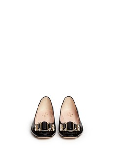 KATE SPADE 'Nisella' jewel patent leather flats