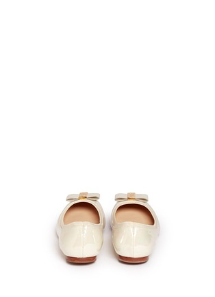 Back View - Click To Enlarge - Kate Spade - 'Tock' bow patent leather ballerina flats