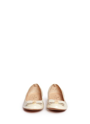 Figure View - Click To Enlarge - Kate Spade - 'Tock' bow patent leather ballerina flats