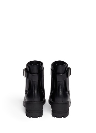 Back View - Click To Enlarge - Alexander Wang  - 'Martine' leather buckle Chelsea boots