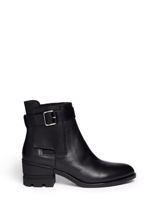 Main View - Click To Enlarge - Alexander Wang  - 'Martine' leather buckle Chelsea boots