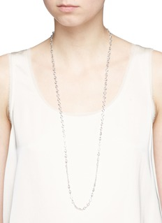 CZ by Kenneth Jay LaneBezel set cubic zirconia necklace