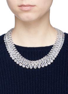 CZ by Kenneth Jay LaneCubic zirconia bib necklace