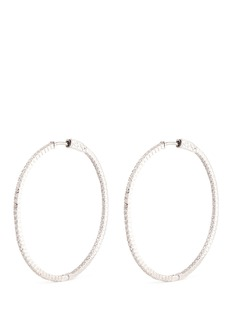 CZ by Kenneth Jay Lane 'Bella Inside Out Hoop' cubic zirconia pavé earrings