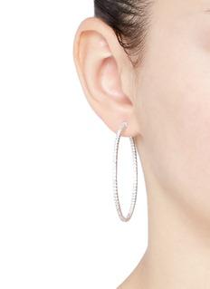 CZ by Kenneth Jay Lane'Bella Inside Out Hoop' cubic zirconia pavé earrings